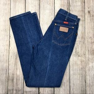 {vintage 80s wrangler} Blue High Waisted Mom Jeans